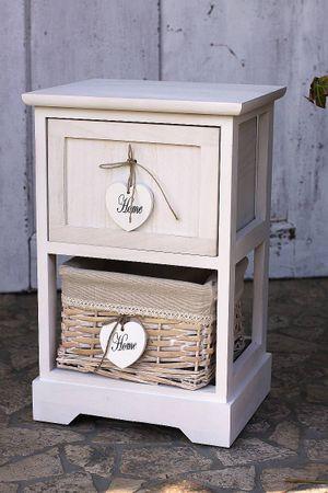 Schrank - Cabinett - mit Schublade in weiß Shabby Landhaus Kommode