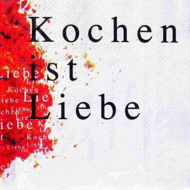 Serviette Poesie et table 'Kochen ist Liebe' Papierservietten von Räder Design