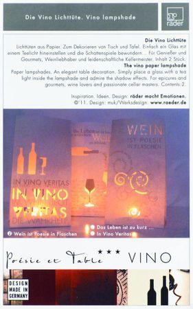 """Lichttüte 2er Set """"Leben zu kurz um schlechten Wein zu trinken"""" Windlicht Haus von Räder Design – Bild 3"""
