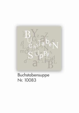 """Serviettenkollektion 'Buchstabensuppe"""" Papierservietten von Räder Design"""