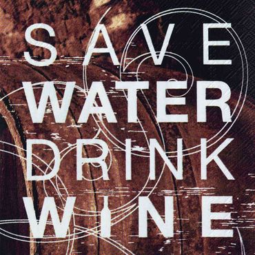 Papierservietten 'Save Water, Drink Wine' Servietten von Räder Design