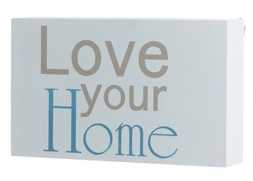 "Wandbild ""Love your Home"" in weiss Schild Wanddekoration"