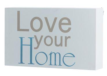 "Wandbild ""Love your Home"" in weiss Schild Wanddekoration"