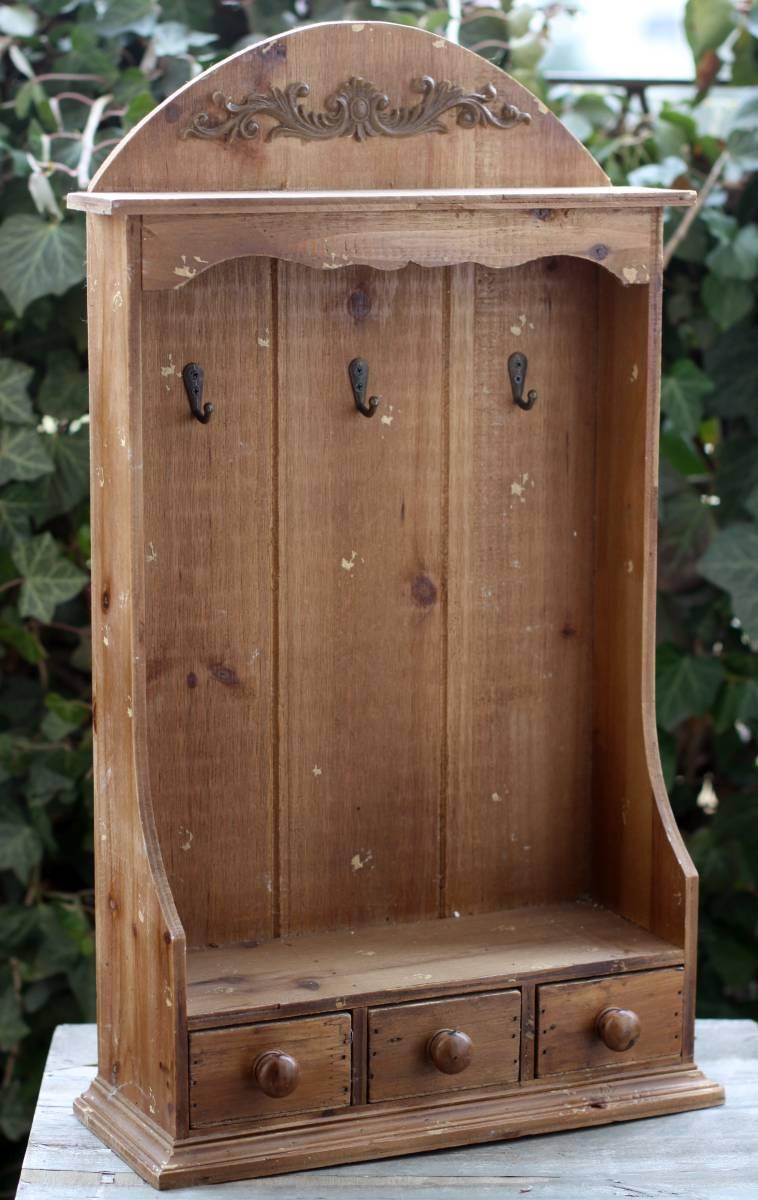 wandregal h nge holz regal shabby landhaus schl sselkasten. Black Bedroom Furniture Sets. Home Design Ideas