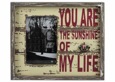 """Bilderrahmen """"Sunshine"""" Shabby Chic Fotorahmen für Bilder 10x15cm – Bild 1"""