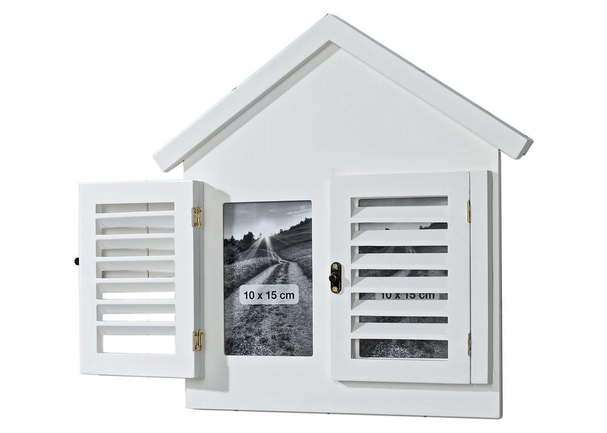 Bilderrahmen Haus Balken weiß 2er Collage für Fotos 10x15 Landhaus ...