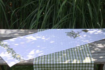 """Tischläufer """"Olive"""" Landhaus Tischdekoration, 2er Set – Bild 2"""