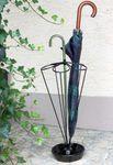 Schirmständer Rondo schwarz Regenschirmständer Metall m. Tropfschale