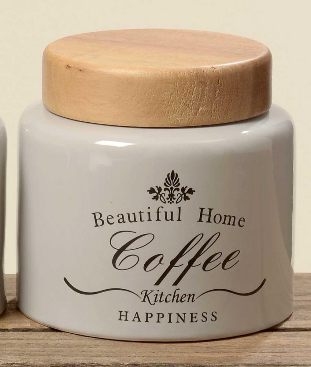 Vorratsdose Coffee aus Steingut Shabby Landhaus Aufbewahrungsdose H 11cm | condecoro Wohnideen u Geschenkideen