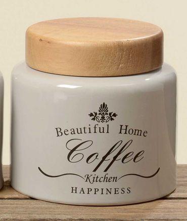 Vorratsdose Coffee aus Steingut Shabby Landhaus Aufbewahrungsdose