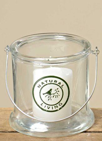 Glas-Windlicht Natural Living Shabby Landhaus Windlichtglas H 12cm