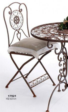 Nostalgischer Stuhl Tecla Metall Gartentstuhl – Bild 1