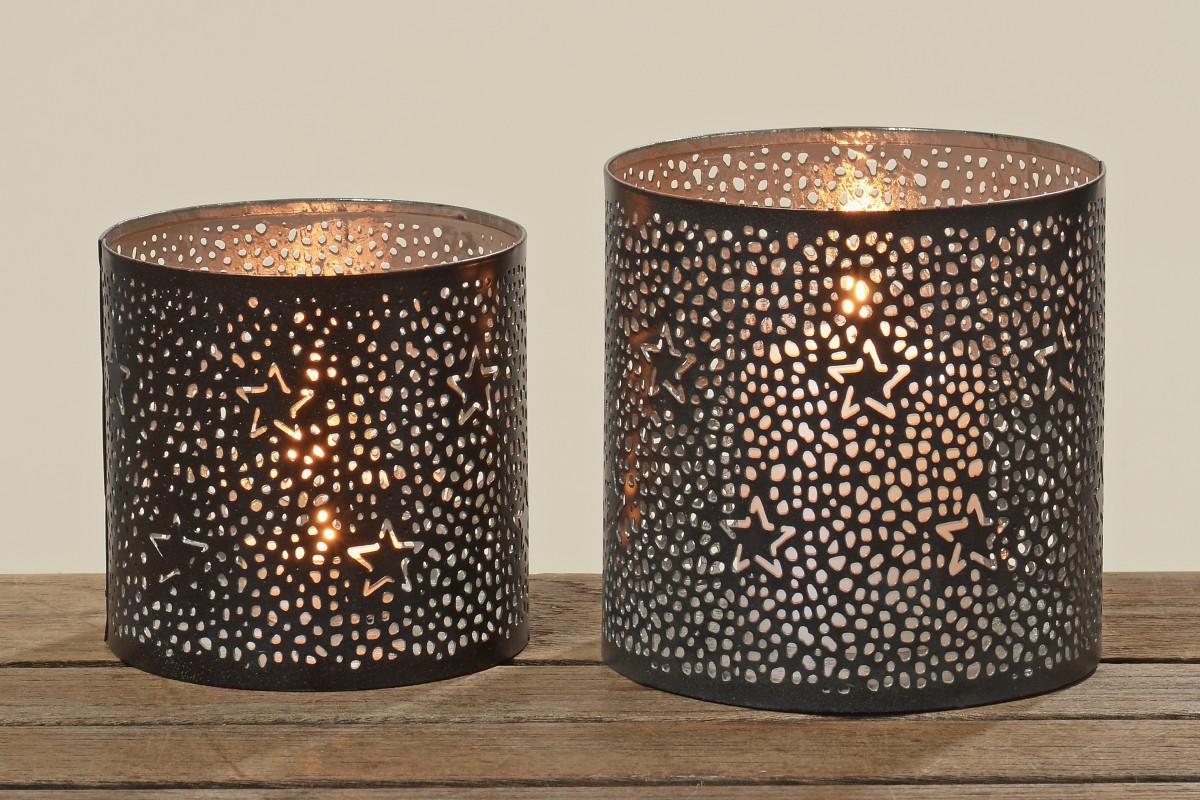metall windlicht sterne teelichthalter kerzenhalter in. Black Bedroom Furniture Sets. Home Design Ideas