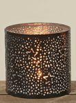Metall-Windlicht Sterne Teelichthalter Kerzenhalter in schwarz