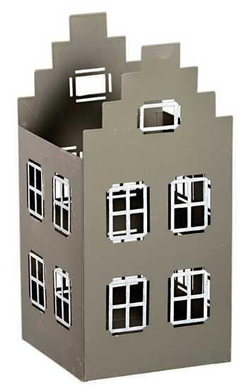 metall windlicht haus offen in grau wei lichthaus teelichthalter weihnachtsdeko. Black Bedroom Furniture Sets. Home Design Ideas