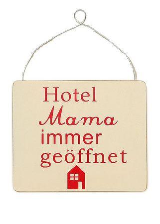 Holzschild - Hotel Mama.. - Wandbild Schild Wandobjekt Muttertag – Bild 1