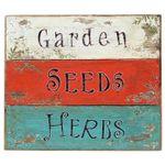 Holzschild - Lovely Garden - Wandbild Türschild Wandobjekt Schild