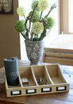 Besteckkasten - Rustica - Holz Aufbewahrung für Besteck Landhausstil natur