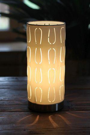 Tischlampe - Aqua beige- Stehlampe Lampe – Bild 1