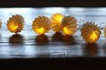 LED Lichterkette - Laterne - aus Kunststoff mit 10 Lichtern in weiss