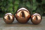 Dekokugel bronze glänzend Gartenkugel Metallkugel Gartendeko 3-tlg.