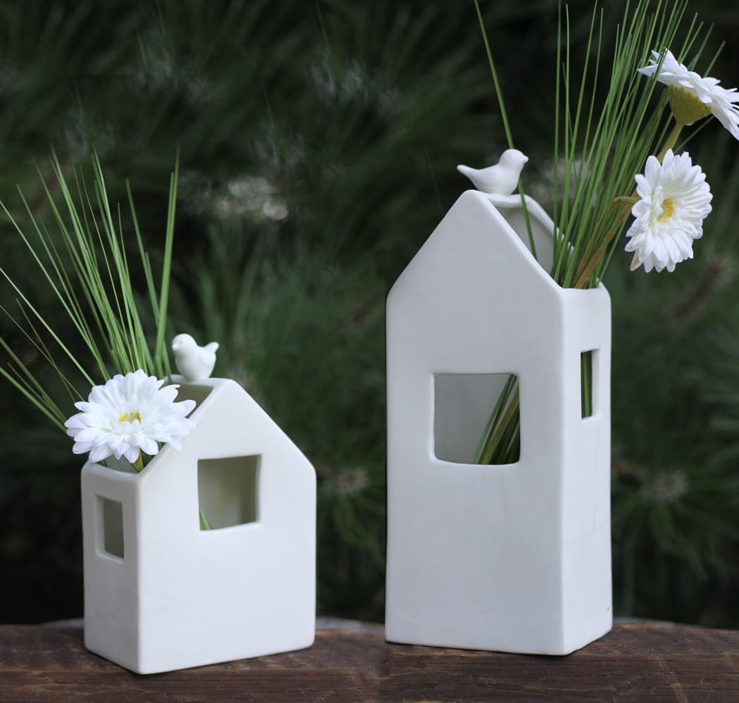 porzellan vase haus deko blumenvase pflanzvase landhausstil. Black Bedroom Furniture Sets. Home Design Ideas