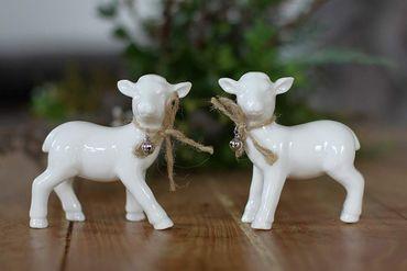 Schäfchen Wooly Keramik Schaff - Lamm 2er Set