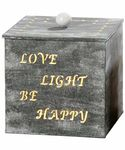 Lampe - Love Light.. - Dekolampe Shabby Chic Tischlampe in grau