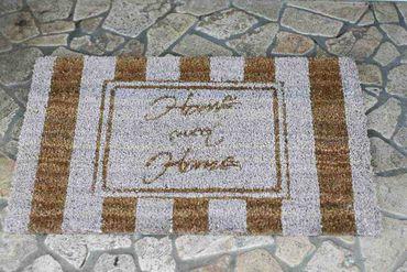 Kokosfußmatte - Home Sweet Home - Shabby Chic Fußabstreifer Fußabtreter