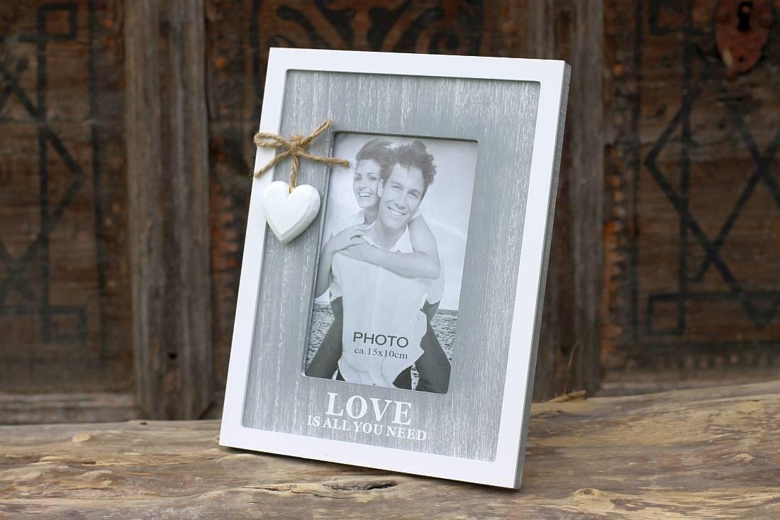 Bilderrahmen Love Shabby Chic Fotorahmen für Bilder 10x15cm
