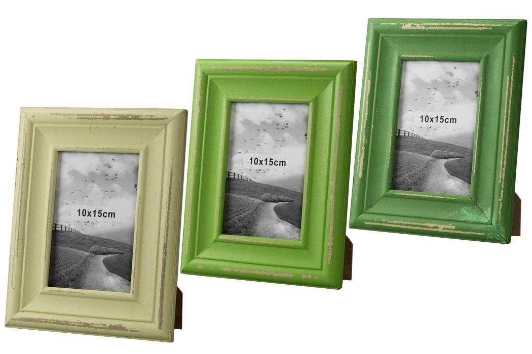Bilderrahmen - Fresh Summer - Shabby Holz Fotorahmen für 10x15 ...