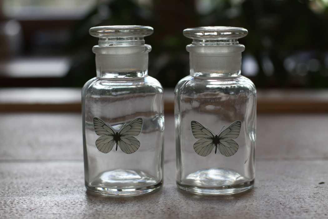 Deko Flasche Schmetterling Glasflasche Mit Verschluss