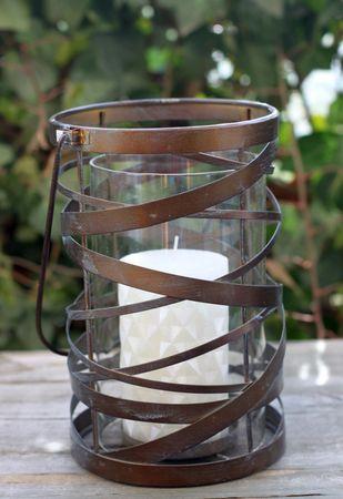 Windlicht - Ornament - Kerzenhalter Teelichthalter mit Glaseinsatz  – Bild 3