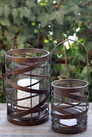 Windlicht - Ornament - Kerzenhalter Teelichthalter mit Glaseinsatz  – Bild 1
