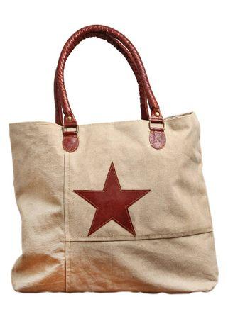 Tasche - Natural Star - Vintage Stofftasche Umhängetasche Shopper