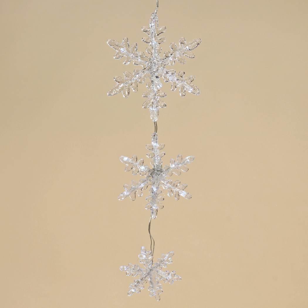 Led Weihnachtsdeko Fenster.Led Hänger Schneeflocke Leuchtvorhang Fensterhänger Weihnachtsdeko Condecoro Wohnideen U Geschenkideen