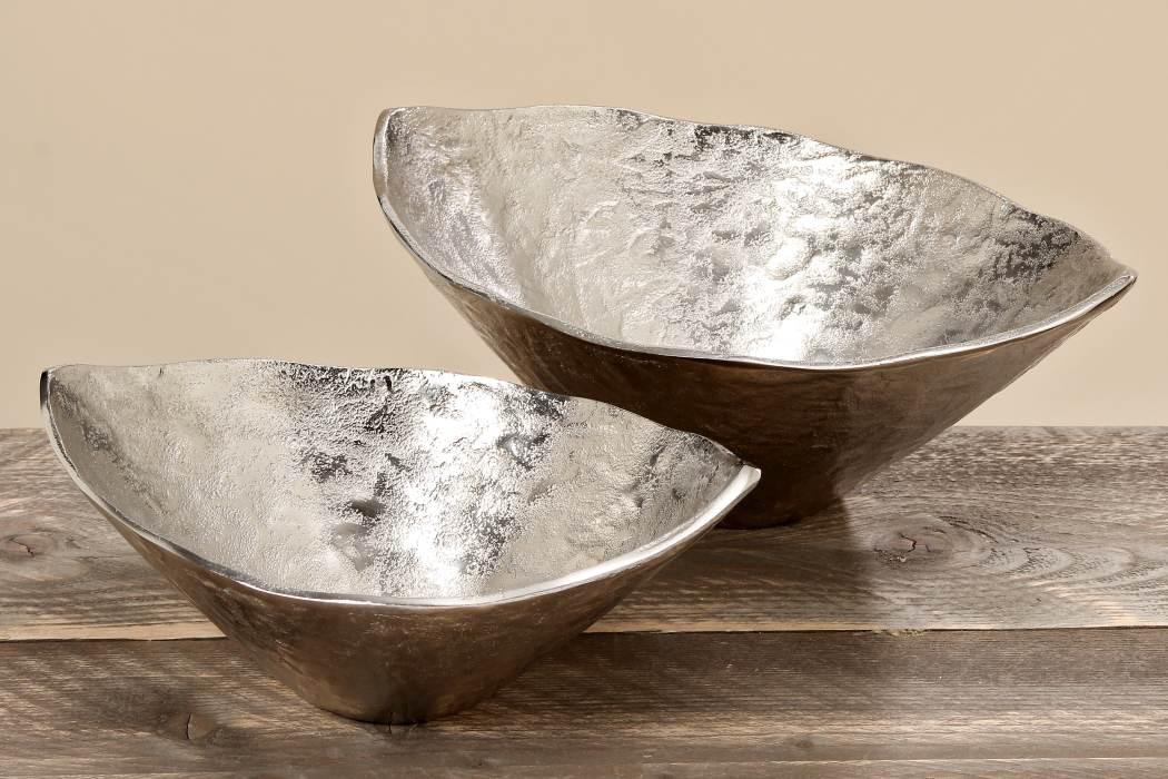 Deko schale silber deko pflanzschale aluminiumschale for Deko wohnzimmer gold silber