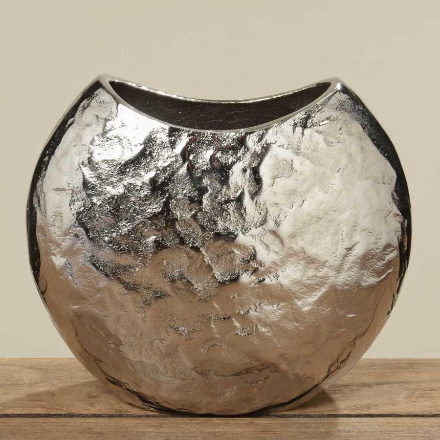 deko vase silber shabby chic deko blumenvase aluminiumvase h 21cm condecoro wohnideen u. Black Bedroom Furniture Sets. Home Design Ideas