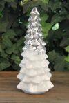 Deko Glastanne geriffelt Weihnachtsdeko Aufsteller silber S
