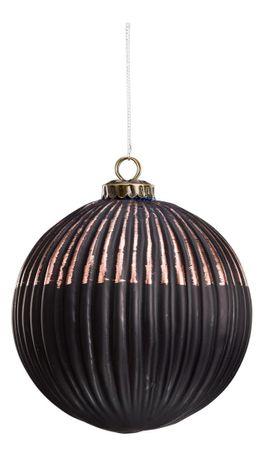 deko h nger glaskugel geriffelt fensterh nger glash nger kupfer schwarz. Black Bedroom Furniture Sets. Home Design Ideas