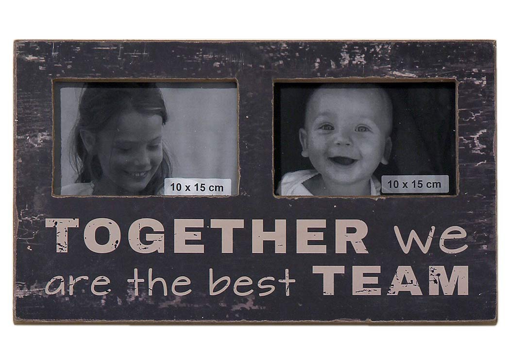 Bilderrahmen - Together we are the best team - Shabby Chic Fotorahmen