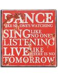 Nostalgie Blechschild Live like there is no Tomorrow