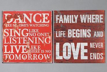 Nostalgie Blechschild Family where life begins and love never ends – Bild 2