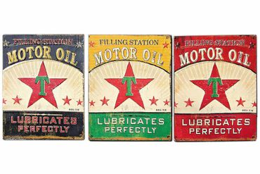 Nostalgie Metallschild Motor Oil