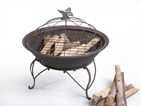 feuerschale fuego mit grill gitter. Black Bedroom Furniture Sets. Home Design Ideas