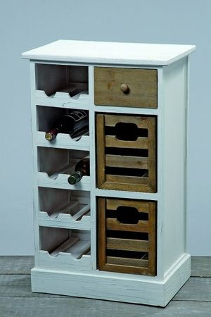 weinregal flaschenregal holz wei landhaus schrank. Black Bedroom Furniture Sets. Home Design Ideas