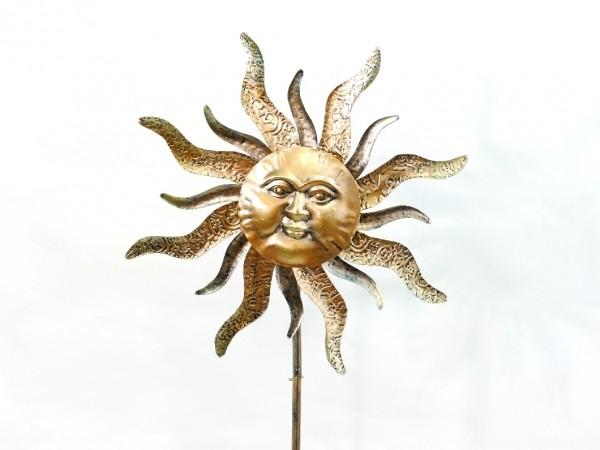 Windrad Sonne Metall Gartenstecker