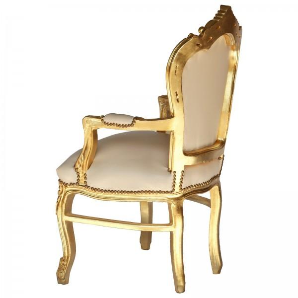 Sitzgelegenheit barocker armlehnstuhl vintage kunstleder for Armlehnstuhl kunstleder