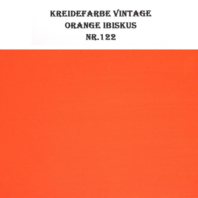 Vintage Kreidefarbe BORMA Möbel Orange Ibiskus leuchtend hellrot 5L (19,98€/ltr)