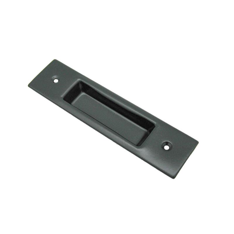 Einlassmuschel Eisen schwarz im Nostalgie Design für eine Schiebetür.